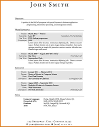 Resume Format Sample Download by First Resume Uxhandy Com