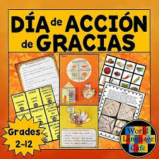 thanksgiving día de acción de gracias actividades writing