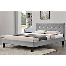 blenheim grey fabric upholstered bed frame buttoned headboard