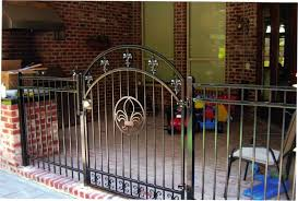 fleur de lis home decor decorative residential wrought iron gates milton fence company