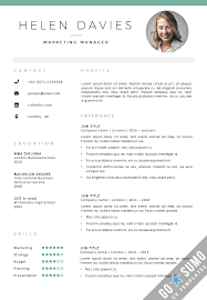 resume with picture template resume templates cv template free professional word open