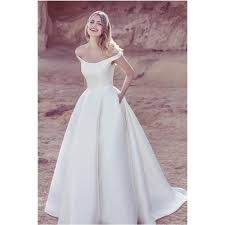 simple wedding gown 2017 popular simple charming a line shoulder wedding dress