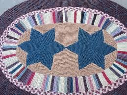 Crochet Rugs With Fabric Strips Sign Up For Amish Style Knitted Rugs