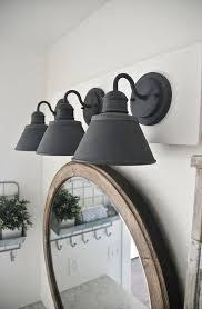 Black Bathroom Fixtures Diy Farmhouse Bathroom Vanity Light Fixture Delightful Black