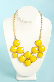 jewelry statement necklace images Pretty yellow necklace bib necklace statement necklace 16 00 jpg