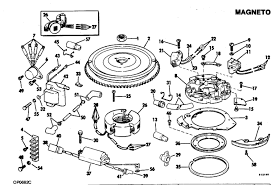 evinrude magneto parts for 1982 35hp e35elcnd outboard motor