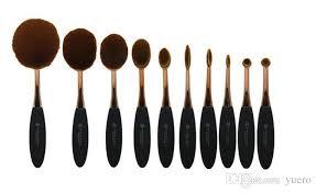 professional makeup tools brushes set oval blending brush multipurpose mermaid toothbrush