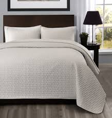Queen Quilted Coverlet Allyson 3 Piece Quilted Coverlet Bedspread Set Ivory Color Light