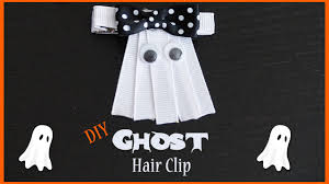 how to make a ghost hair bow diy halloween hair bow idea youtube