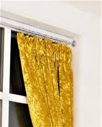 Gold Velvet Curtains Designer Gold Heavy Weight Pencil Pleat Crushed Velvet Curtains
