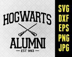 hogwarts alumni bumper sticker hogwarts slytherin gryffindor ravenclaw and hufflepuff school