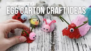 diy egg carton craft ideas for kids youtube