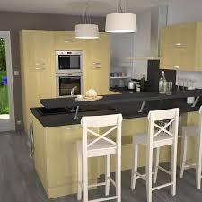 meuble snack cuisine cuisine en bois porte contemporaine betula bouleau kitchens