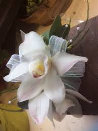 White Orchid Corsage Corsages Blossoms At Dailey U0027s Flower Shop Fairfield Ct