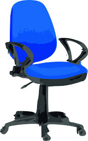 Office Chairs With Wheels Clipart Desk Chair Blue With Wheels