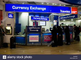 bureau change bureau de change office operated by travelex at heathrow airport