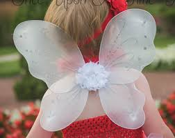 Halloween Costume Fairy Wings White Fairy Wings Etsy