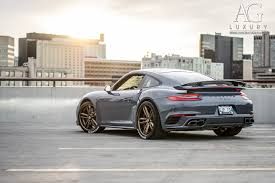 grey porsche 911 turbo ag luxury wheels porsche turbo forged wheels