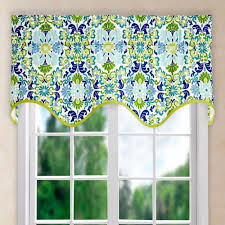 folk damask wave valance ellis curtain curtainshop com