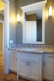 White Bathroom Mirrors by Frame Bathroom Mirrors And Paint To Match Cabinets Dyi Iii