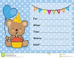 invitation card birthday boy stock vector image 57459258