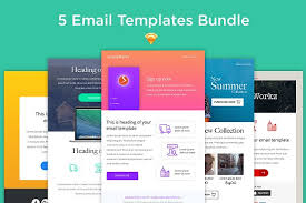 5 email templates bundle sketch email templates creative market