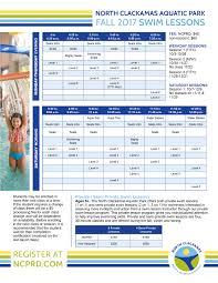 swim lessons north clackamas parks u0026 recreation district