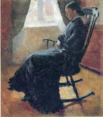 Early American Rocking Chair Aunt Karen In The Rocking Chair 1883 Edvard Munch Wikiart Org