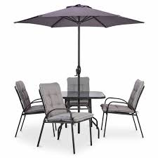 B Q Bistro Chairs Cranbrook Metal 4 Seater Dining Set Dining Sets Metals And Gardens