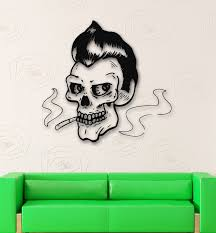 wall decals stickers home decor home furniture diy wall stickers vinyl decal smoking skull dead zombies ig498