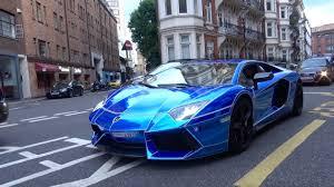 chrome blue lamborghini aventador blue chrome oakley lamborghini aventador loud revs and driving