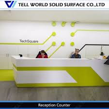 Acrylic Reception Desk Customized High Glossy Acrylic Reception Desk Customer Service