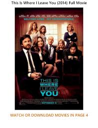 this is where i leave you 2014 free new online movies