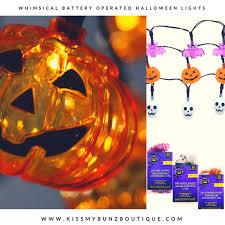 whimsical battery power halloween lights home kissmybunz