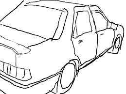 simple drawing of a car drawing pictures of cars coloring pages