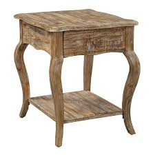 Rustic Reclaimed Outdoor Furniture Alaterre Arsa0125 Rustic Reclaimed Wood End Table Homeclick Com