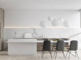 Modern White Kitchen Cabinets by Kitchen Round Black Contemporary Bar Stools With White Marble