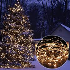 100 ft long christmas lights solar powered 33ft 10m 100 leds starry string lights copper wire