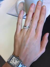my wedding band is my wedding band overpowering my e ring show me your 7