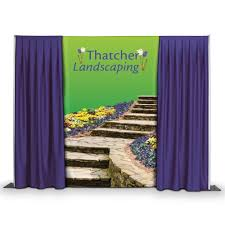 backdrop fabric pipe and drape backdrop banners clip on custom fabric banners