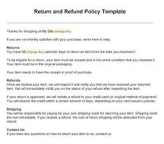 Formal Credit Policy Sle Return Policy For Ecommerce Stores Termsfeed