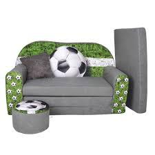 sofa hocker fussball kindersofa mit passenden hocker das sofa ist