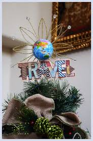theme tree travel theme tree topper travel theme christmas tree pinterest