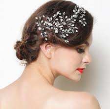 headdress for wedding 6 pieces pearl bridal headdress handmade rhinestone wedding