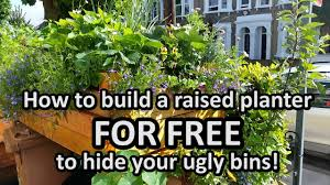 How To Build A Planter by How To Build A Planter For Free To Hide Your Ugly Bins Youtube