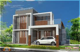 home design ideas small double storied contemporary house plan