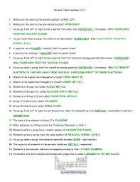 periodic trends worksheet