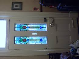 stained glass for front door front door with stained glass leads image 375x500 pixels