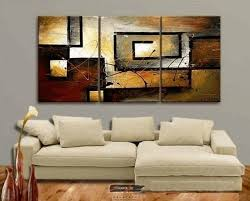 decorative artwork for homes zartsy 100 hand painted abstract landscape yellow color block