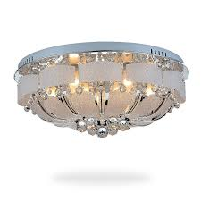 Crystal Flush Mount Ceiling Light Fixture by Flush Mount Ceiling Lights For Living Room Crystal Fashion Style